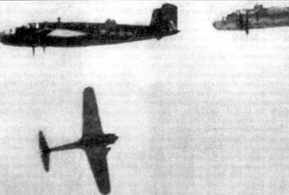 Ки-43-II, сбитый во время неудачной атаки на В-25 «Митчелл», Курилы, 1944 год.