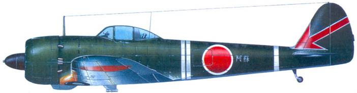 Ки-43-II-Каи, 64-й сентай, машина командира 2-ю чутая, капитана Хидео Мнябе, Бирма, конец 1944 года.