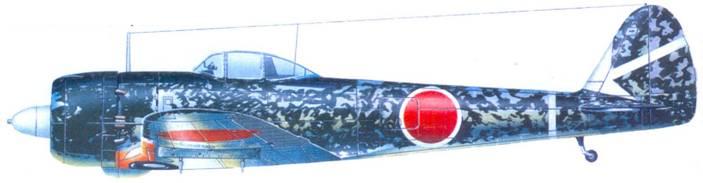 Ки-43-II — Каи, 1-й чутай, 64-й сентай, унтер-офицер Норио Синдо, Бирма, март 1944 года.