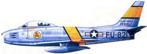F-86E майора Фредерика С. Блисси