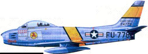 F-86F капитана Ральфа Парра