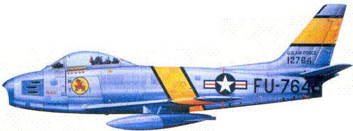F-86E капитана Леонарда У. Лилли