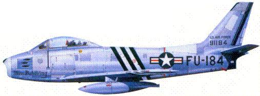 F-86A 1-го лейтенанта Ричарда С. Биккера