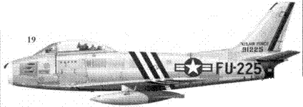 19.F-86A-5-NA 49-1225 майора Ричарда Д. Крейтона из 336-й эскадрильи 4-го авиакрыла