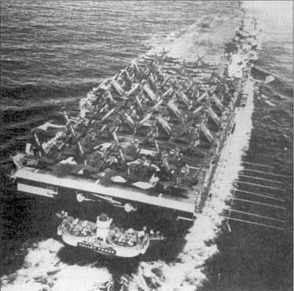 В день, когда началась война в Корее, 25 июня 1950г., авианосец CVA-45 «Вэлли Фодж» находился в районе Гонк-Конга, а авианосец CVA-47 «Филиппин Си» шел к берегам Кореи. В состав авиагруппы «Счастливого Вэлли» входили эскадрильи VF-51 и VF-52, имевшие на вооружении реактивные «Пантеры» и VF-53 и VF-54, оснащенные поршневыми «Корсарами» F4U- 4В. 3 июля 1950г. пилоты «Пантер» из эскадрильи VF-51 энсин Браун и лейтенант Леонард Плог сбили по одному истребителю Як-9.