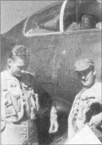 Летчики оснащенной ночными истребителями «Скайнайт» эскадрильи VMF(N)-513 добились победы 2 июня 1952г., когда экипаж в составе майора Уильяма Стрэттона и сержанта Ханса Хоглайнда сбил Як-15. Майор и сержант сфотографировались на фоне своего истребителя, украшенного победной звездочкой.