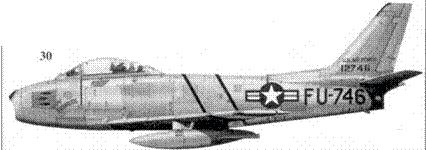 30.F-86E-10-NA 51-2746 «LADY FRANCES/MICHIGAN CENTER» майора Уильяма Уискотта из 25-й эскадрильи 51-го авиакрыла