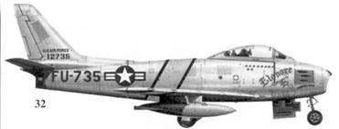 32.F-86E-10-NA 51-2735 «Elenore Е» майора Уильяма Т. Уизнира из 25-й эскадрильи 51-го авиакрыла
