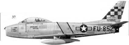 37.F-86F-1-NA 51-2897 «DARLING DOTTIE» майора Джона Болта из корпуса морской пехоты США, 39-я эскадрилья 51-го авиакрыла
