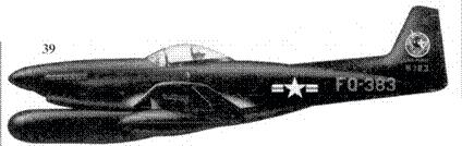 39.F-82G-NA 46-383 лейтенанта Уильяма Хадсона и лейтенанта Карла Фрейзера из 68-й истребительной всепогодной эскадрильи