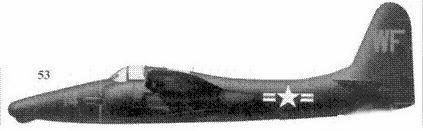 53.F7F-3N (заводской номер не установлен) летчика капитана Лонга и оператора РЛС Букингэма из эскадрильи VMF(N)-513