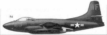 54.F3D-2 (регистрационный номер не известен) майора Уильяма Стрэттона и сержанта Ганса Хоглинда из эскадрильи VMF(N)-513