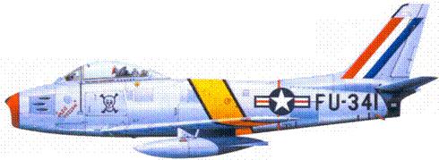 F-86F майора Джеймса П. Хагерстрома