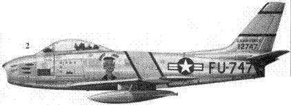 2.F-86E-10-NA 51-2747 «HONEST JOHN» командира 4-й истребительной авиагруппы полковника Уолкера М. Махурина