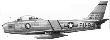3.F-86F-10-NA 51-12941 командира 4-го истребительного авиакрыла полковника Джеймса К. Джонсона