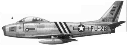 4.F-86A-5-NA 49-1281 командира 334-й эскадрильи 4-го авиакрыла полковника Гленна Т. Иглстоуна