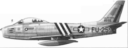 5.F-86A-5-NA 48-259 капитана (позже майора) Джеймса Джабары из 334-й эскадрильи 4-го авиакрыла