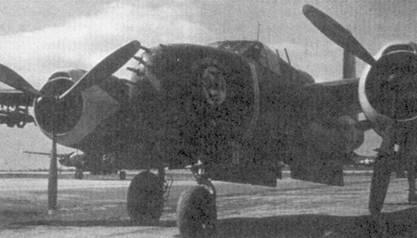 Экипажи самолетов В-26 «Инвэйдер» за время Корейской войны провели несколько воздушных боев, в одном из которых I-й лейтенант Роберт У. Фокс сбил МиГ-15. 24 июня 1951г. капитан Ричард Хейман из 8-й эскадрильи 3-й бомбардировочной группы сбил внезапно возникший прямо перед носом его самолета По-2. Это была единственная официально подтвержденная победа экипажа бомбардировщика В-26 «Инвейдер». На снимке — В-26В из 8-й эскадрильи 3-й бомбардировочной группы.