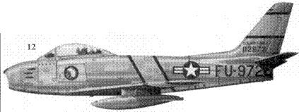 12.F-86F-10-NA 51-12972 «Billie» капитана Лопни Р. Мура из 335-й эскадрильи 4-го авиакрыла