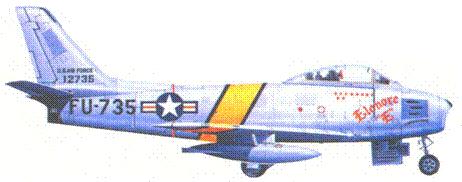 F-86E майора Вильяма Виснера