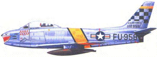 F-86F 1-го лейтенанта (позже капитана)
