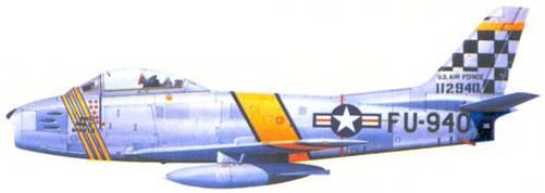 F-86F подполковника Джорджа Рудделля.