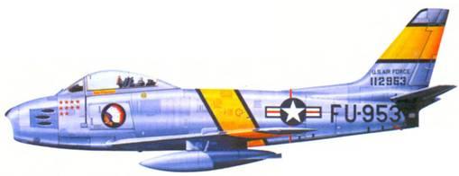 F-86F подполковника Вермонта Харрисона