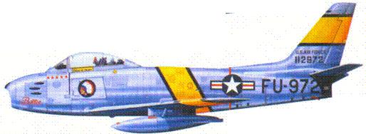 F-86F капитана Лопни Р. Мура