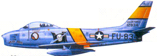 F-86E капитана Клиффорда Д. Джолли