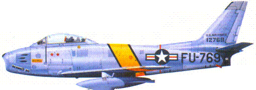 F-86E капитана Роберта Дж. Лове