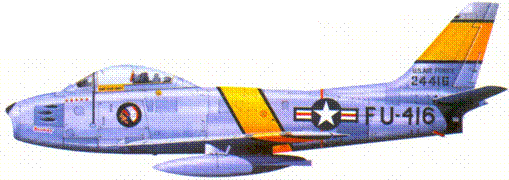 F-86F капитана Клайда Куртина