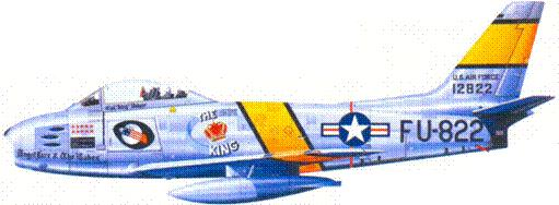 F-86E полковника Ройала Вэйкера