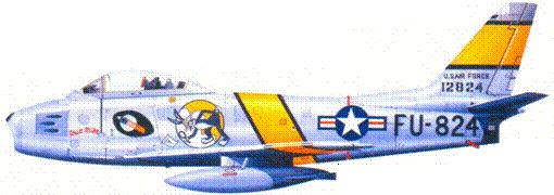 F-86E капитана (позже майора) Робинсона Райзиера