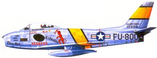 F-86E капитана (позже майора) Чарльза Д. Оуэнса