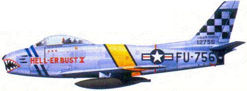 F-86Е майора (позже подполковника) Эдвина Л. Хиллира