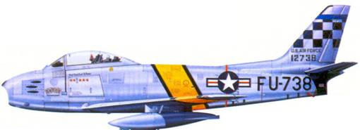 F-86E 1-го лейтенанта (позже капитана) Сесила Фостера