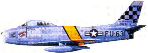 F-86Е капитана Долфина Д. Овертоуна