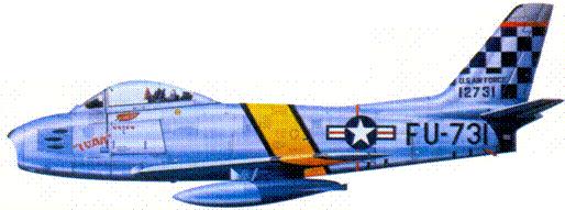 F-86E 1-го лейтенанта (позже капитана) Ивена Кинчилои
