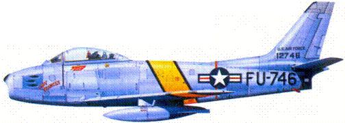 F-86E майора Уильяма Т. Увескета
