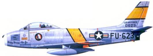 F-86E полковника Харрисона Р. Тинга