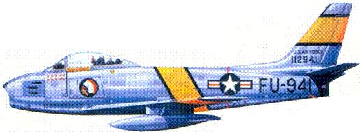 F-86F полковника Джеймса К. Джонсона
