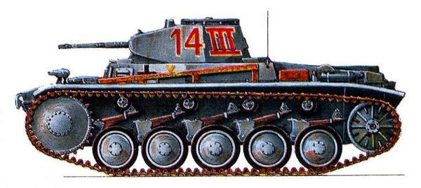 Pz.Kpfw.II Ausf.C. 3-й батальон 25-го танкового полка 7-й танковой дивизии (Pz.Rgt.25, 7.Panzer Division), Восточный фронт, сентябрь 1941г.