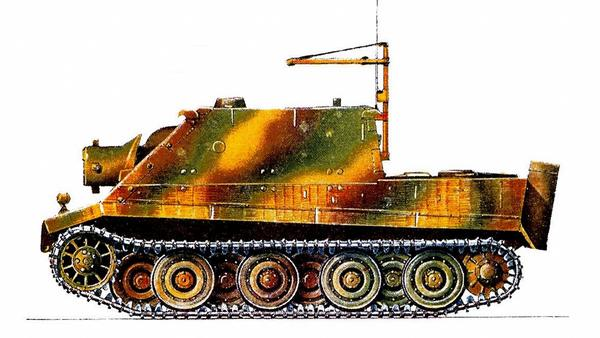 Sturmtiger. 1000-я рота штурмовых мортир (1000.Pz.Stu.Mr.Kp.), Западный фронт, 1945г.