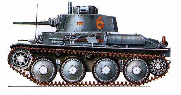 Pz.Kpfw.38(t) Ausf.G. 6-я рота 2-го батальона 21-го танкового полка 20-й <a href='https://arsenal-info.ru/b/book/1627328415/38' target='_self'>танковой дивизии</a> (6/Pz.Abt.2, Pz.Rgt.21, 20.Panzer Division), Восточный фронт, 1941г.
