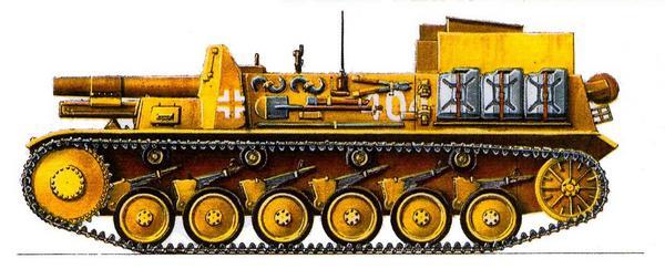 15 cm sIG 33 auf Pz.Kpfw.II SturmpanzerII. 707-я рота тяжёлых пехотных орудий (707.S.I.G. Кр.), Северная Африка, июль 1942г.