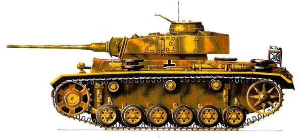 Pz.Kpfw.III Ausf.M. 3-я танковая дивизия CC (3.SS Panzer Division) «Totenkopf», Курск, июль 1943г.