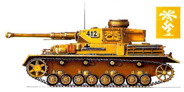Pz.Kpfw.IV Ausf.F2. 4-я рота 5-го танкового полка 21-й танковой дивизии Африканского корпуса (4/Pz.Rgt.2, 21.Panzer Division, Deutsche Afrika Korps), сражение под Газала, Ливия, май 1942г.