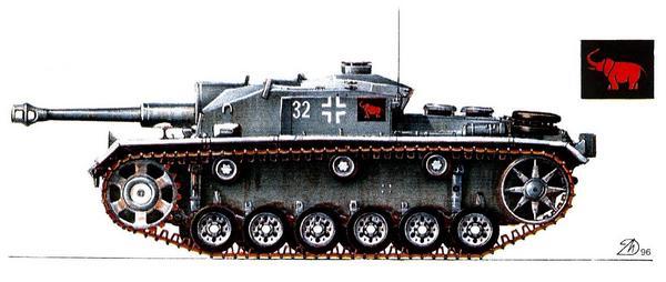 StuG.III Ausf.F. 203-й дивизион штурмовых орудий (Sturmgesch?tzabteilung 203), Ростов, лето 1942г.