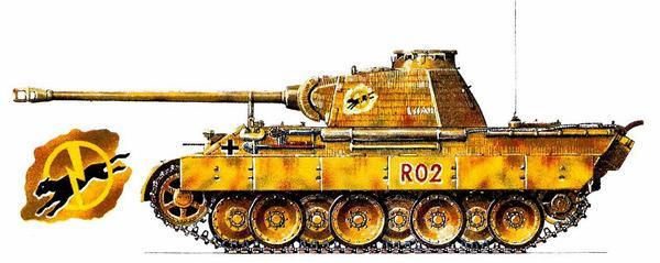 Pz.Kpfw.V Panther Ausf.A. 1-я <a href='https://arsenal-info.ru/b/book/1627328415/37' target='_self'>танковая</a> дивизия CC (1.SS Panzer Division) «Leibstandarte SS Adolf Hitler», Франция, 1944г.