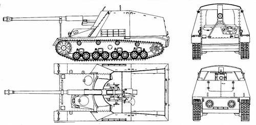 8,8 cm Pak auf GW III/IV Nashorn (Sd.Kfz.164)